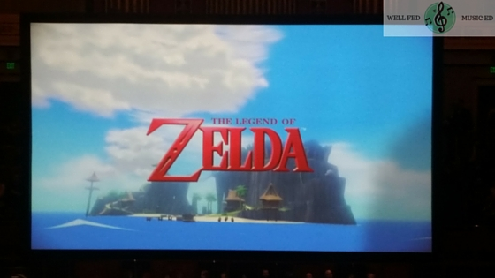 Legend of Zelda: Symphony of the Goddessess REVIEW Screen image before the start of the show wellfedmusiced.weebly.com