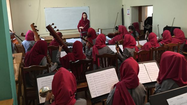 Afganistan's First Female Conductor http://www.bbc.com/news/magazine-34581264